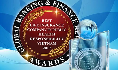 Bảo Việt Nhân thọ nhận Giải thưởng do Tạp chí Tài chính và Ngân hàng toàn cầu của Anh Quốc bình chọn