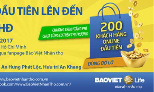 Lần đầu tiên Bảo Việt Nhân thọ triển khai chương trình ưu đãi cho các khách hàng trên Facebook