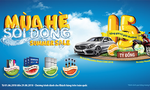 """Chương trình khuyến mãi tri ân khách hàng """"Bảo Việt - Mùa Hè Sôi Động Summer Sale"""" với, tổng giá trị giải thưởng lên đến hơn 15 tỷ đồng"""