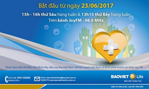 Bảo Vệ Sức Khỏe Việt - Chương trình tư vấn sức khỏe với bác sĩ uy tín từ ngày 23/06/2017 trên kênh phát thanh Sức khỏe toàn quốc JoyFM