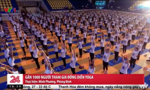 Tinh thần Yoga của 1000 người dân Hà Nội lan tỏa trên sóng VTV1