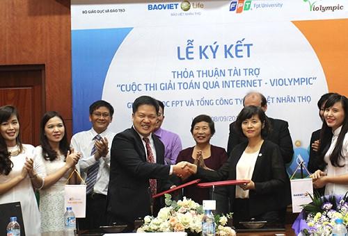 Bảo Việt Nhân thọ tiếp tục đồng hành cùng Cuộc thi giải toán qua mạng - ViOlympic năm học 2015-2016