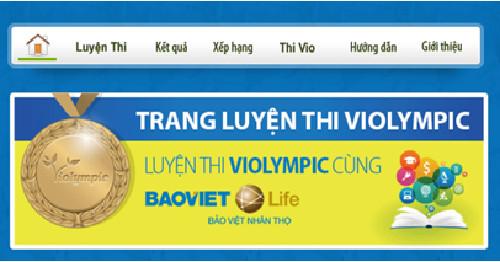 Chính thức ra mắt trang web Luyện thi ViOlympic ngày 20/01/2015