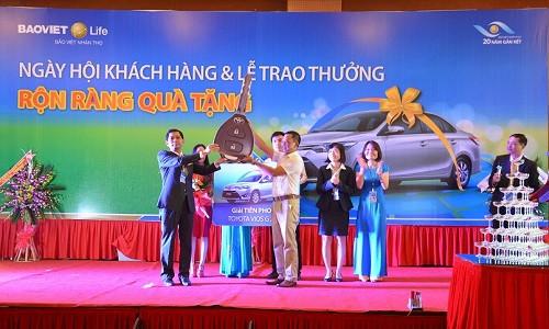 Giải TIÊN PHONG - xe ô tô Toyota Vios đã được trao tận tay cho gia đình anh VŨ MẠNH HÙNG tại HNKH BVNT Thái Bình