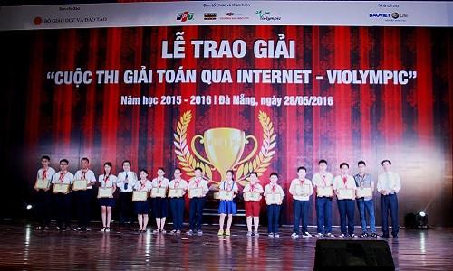 Hơn 2.100 em học sinh được vinh danh trong Lễ trao giải ViOlympic
