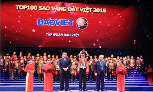 Bảo Việt - thương hiệu uy tín hàng đầu trong lĩnh vực tài chính – bảo hiểm tại giải thưởng Sao Vàng Đất Việt 2015