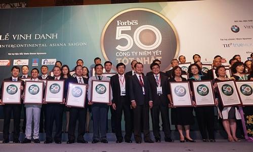 Tập đoàn Bảo Việt: TOP 50 doanh nghiệp niêm yết tốt nhất Việt Nam do Tạp chí Forbes bình chọn