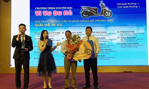 """Kết quả quay thưởng Đợt 1 """"Vi Vu Du Hè"""" - 216 khách hàng của Bảo Việt Nhân thọ nhận giải thưởng giá trị"""