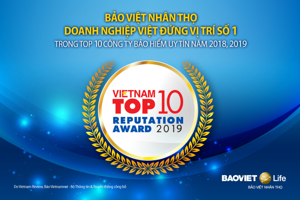Bảo Việt Nhân Thọ là công ty uy tín nhất Việt Nam 2019