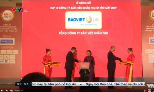 Bảo Việt Nhân thọ đón giải thưởng Công ty bảo hiểm nhân thọ uy tín nhất Việt Nam 2019 | VTV1