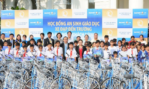 """Giải thưởng """"Doanh nghiệp bảo hiểm nhân thọ có hoạt động trách nhiệm xã hội và phát triển cộng đồng tốt nhất Việt Nam năm 2019"""""""
