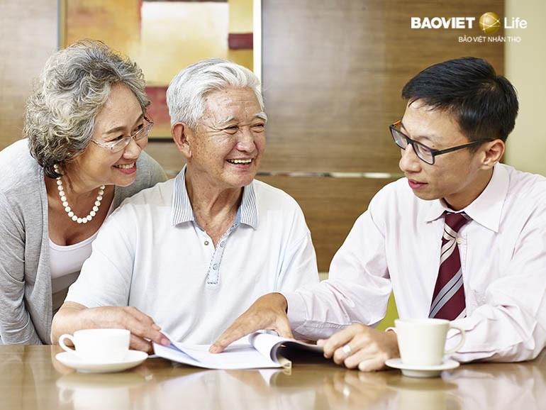 Bảo hiểm nhân thọ hưu trí mang tới cuộc sống an nhàn khi về già