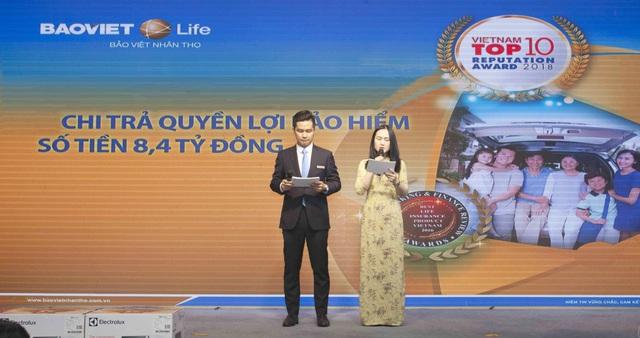 Bảo Việt nhân thọ tổ chức lễ chi trả quyền lợi bảo hiểm nhân thọ