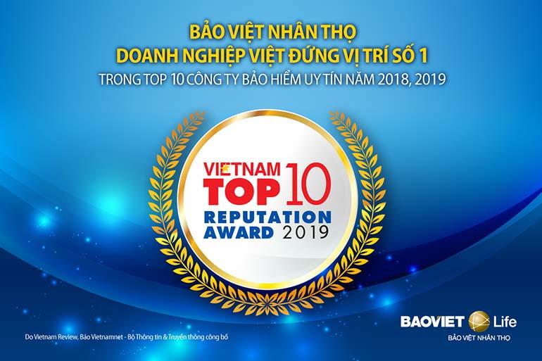 Bảo Việt Nhân Thọ là đơn vị bảo hiểm đáng tin cậy hàng đầu Việt Nam