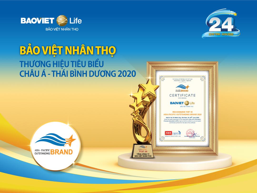 """Bảo Việt Nhân thọ - """"Thương hiệu Tiêu biểu châu Á - Thái Bình Dương 2020"""""""