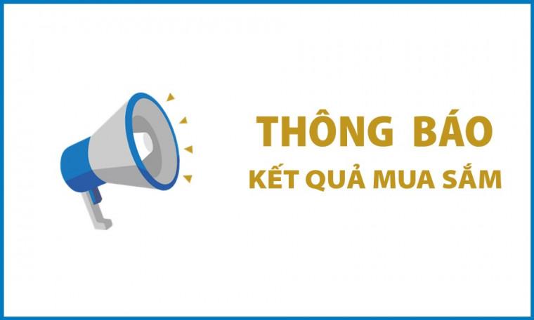 """Thông báo kết quả mua sắm gói """"Cung cấp lịch năm mới Xuân Tân Sửu 2021"""""""