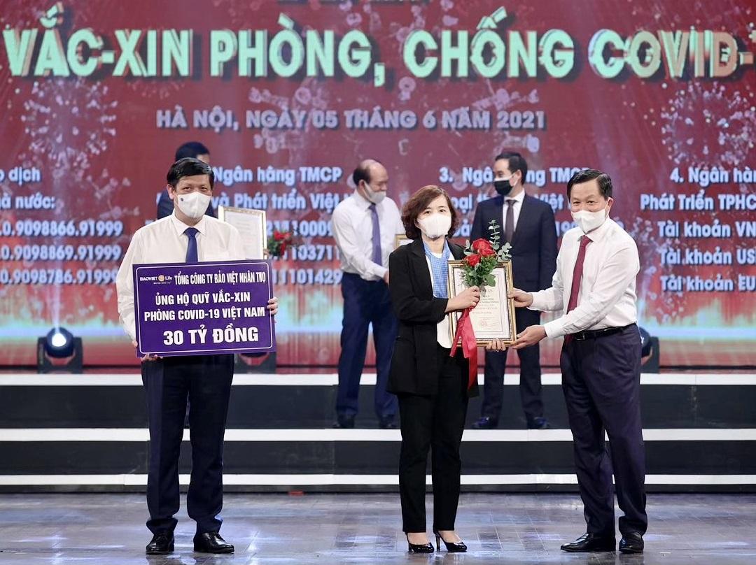 Bảo Việt Nhân thọ ủng hộ 30 tỷ đồng cho Quỹ vaccine phòng COVID-19